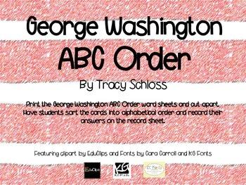George Washington  ABC Order,