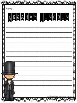 George Washington & Abraham Lincoln Biography Report Organizers