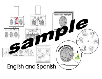 George Washington Activities pack Eng. and Spanish Cscope common core