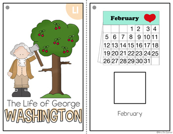 George Washington Adapted Books { Level 1 and Level 2 } President's Day
