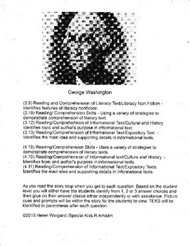 George Washington Adaptive Informational Text and Lesson Plan