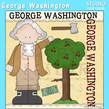 George Washington US History Color Clip Art  C. Seslar