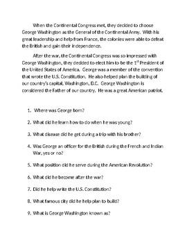 George Washington American Patriot