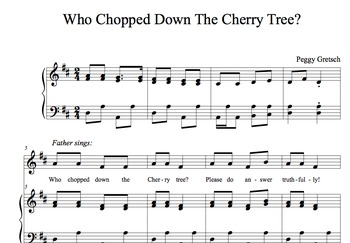 George Washington And The Cherry Tree/Story and Song