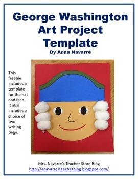 George Washington Art Project Template - Freebie!