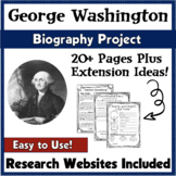George Washington Biography Report Project Template   PBL