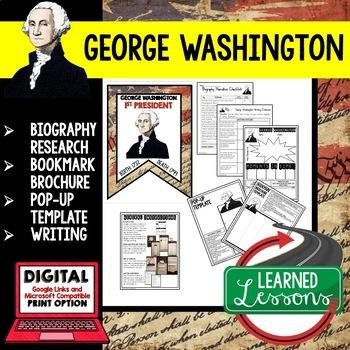 George Washington Biography Research, Bookmark Brochure, P
