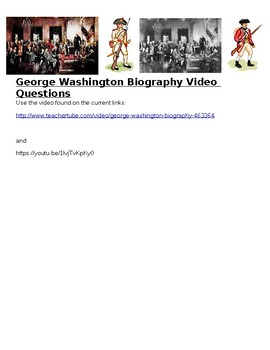 George Washington Biography Video Guide Questions