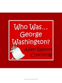 """George Washington Biography by Edwards """"Who Was..?"""" Comprehension Worksheets"""