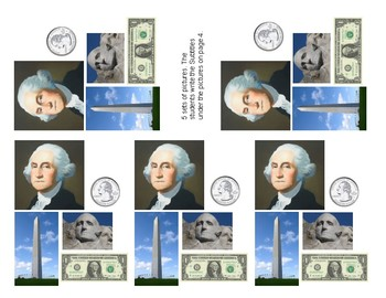 George Washington Booklet With Writing Starters - Text Features -In Spanish