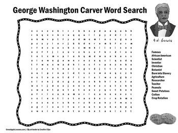George Washington Carver Activity   George Washington Carver Biography