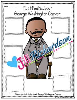 George Washington Carver Writing - Great Black History Month Activity