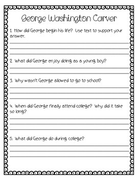 George Washington Carver A Weed is a Flower Activity Pack