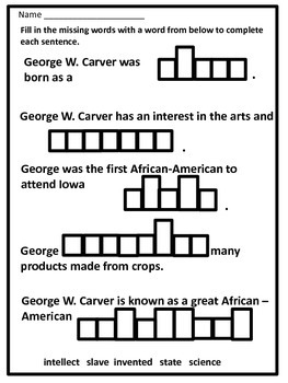 Black History Hero George Washington Carver Biography