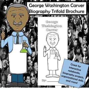 George Washington Carver Biography Trifold Brochure