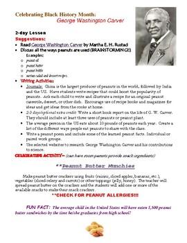 George Washington Carver Black History Month Lesson Plan
