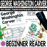 George Washington Carver Black History Simple Reading Activity for Kindergarten