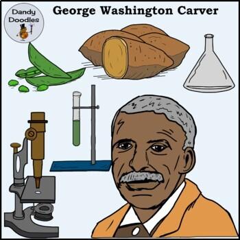 George Washington Carver Clip Art by Dandy Doodles