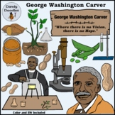 George Washington Carver Clip Art by Dandy Doodles
