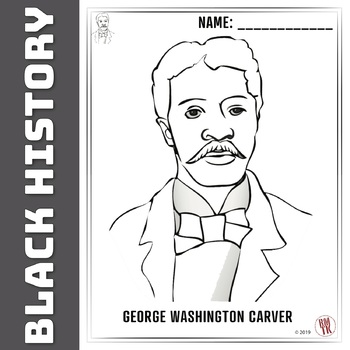 George Washington Carver - Coloring page!