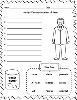 George Washington Carver Craftivity (A Black History Month Craftivity)