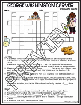 George Washington Carver Activities Crossword Puzzle and Word Search Find