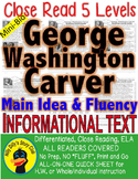 George Washington Carver CLOSE READING 5 LEVEL PASSAGES Differentiated!!!