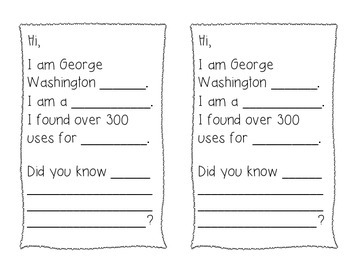 George Washington Carver Fact Page