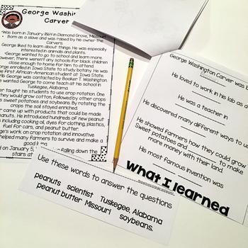 George Washington Carver- Flip Book and Vocab Cards