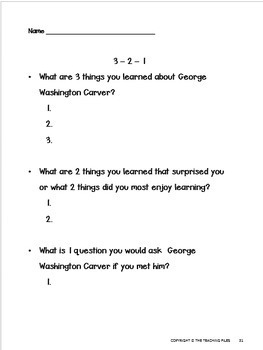 George Washington Carver:Social Studies for Grades 2-4 with Literacy Activities