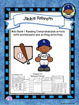 Jackie Robinson Mini Book Foldable and Comprehension Packet