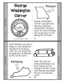 George Washington Carver Mini-book for Black History