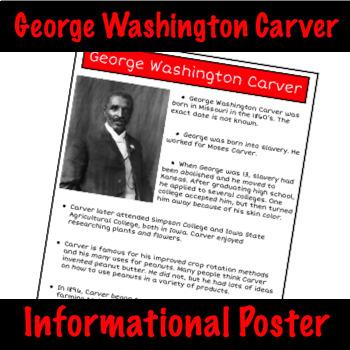 George Washington Carver - Nonfiction Fact Sheet
