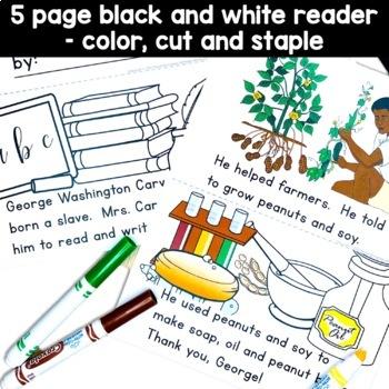 George Washington Carver Peanut Butter Jar craft and reading activity