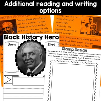George Washington Carver Peanut Butter Jar craft and reading activity bundle