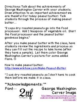 George Washington Carver Peanut Butter Recipe