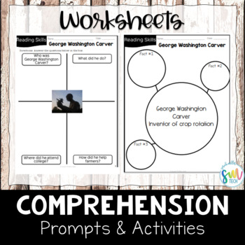 George Washington Carver Reading and Writing Activity (SS5H1, SS5H1b)