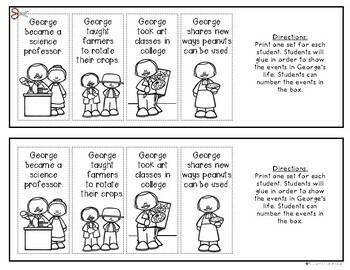 George Washington Carver Timeline {Kindergarten and First Grade} Social Studies