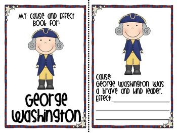 George Washington Cause and Effect Book Freebie