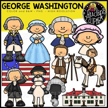 George Washington Clip Art Bundle {Educlips Clipart}