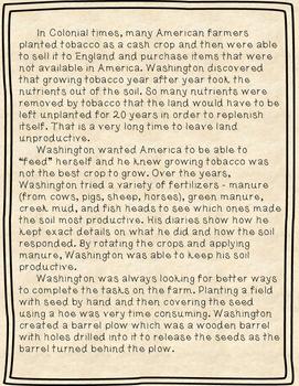 George Washington Close Read