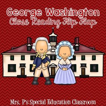 George Washington Close Reading Flip Flap