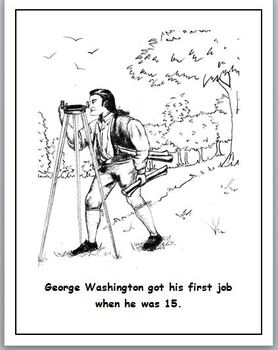 George Washington Coloring Book with Sequence Activity