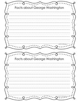 George Washington Craftivity Freebie