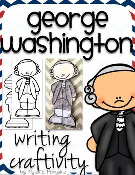 "George Washington ""Craftivity"" Writing page (President)"