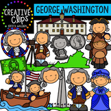 George Washington Clipart - Presidents Day Clipart {Creati