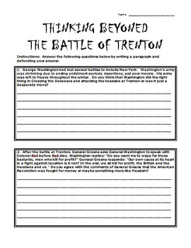 George Washington Crossing the Delaware: Student Interview and Questions