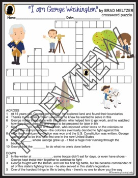 George Washington Activities Crossword Puzzle Word Search Find Brad Meltzer Book
