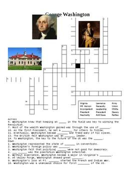 George Washington Crossword or Web Quest