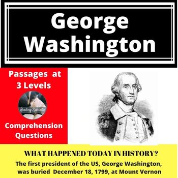 George Washington Differentiated Reading Passage December 18